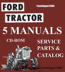 Ford 501 600 601 700 701 800 801 900 901 1801 Tractor Service Parts Manuals Cd
