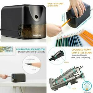 Electric Pencil Sharpener With Heavy Duty Helical Blade For No 2 colored Pencil