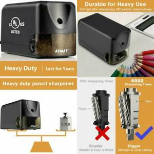 Afmat Electric Pencil Sharpener Heavy Duty Classroom Pencil Sharpener For 6 5 8