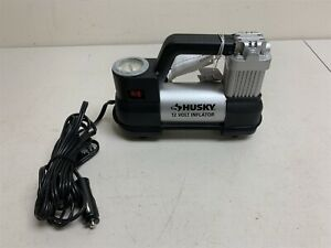 Used Husky Portable Air Compressor 12v Electric Pump Car Tire Inflator 937 790