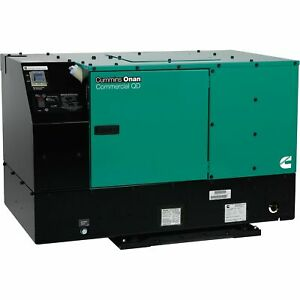 Cummins 10 0hdkcc 42345 Onan Quiet Series Diesel Commercial Generator 10kwwatts