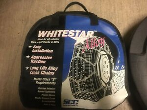 Whitestar Snow Tire Chains P265 75r16 Used 2 Chains Total