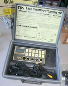 Cps Temp seeker T 250 T250 Thermo psychrometer Tm250 Thermometer In Case Bas