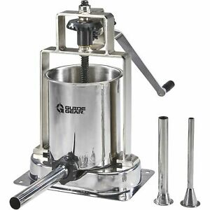Guide Gear Stainless Steel 15 lb Capacity Home Sausage Meat Stuffer Press Maker