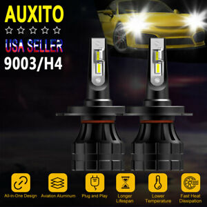 Auxito H4 Hb2 9003 20000lm White Led Headlight Kit High Low Beam Bulbs 6000k Z1
