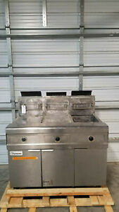 Frymaster Fpp345gsc 3 Bank Fryer Natural Gas 115 Volts 1phase Tested