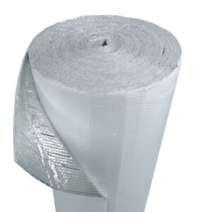 100sqft 4ft Wide Double Bubble White Reflective Foil Insulation R8 1 4inch