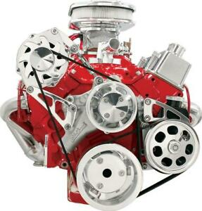 Billet Specialties Pulley Kit Serpentine Alum Chevy Small Block Kit Fm2111pc