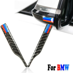 2x Carbon Fiber Rearview Mirror Anti Rub Trim Sticker For Bmw 3 5 Series X3 X5