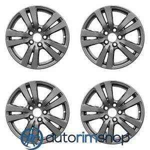 Honda Pilot Ridgeline 2016 2019 18 Oem Wheels Rims Full Set Dark Charcoal