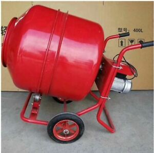 Portable Electric Concrete Mixer 160l Cement Mixer Motor Feed Mixing Machine