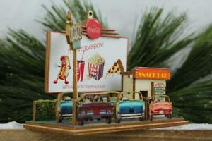 Ginger Cottages Coca-Cola Drive-In Theater Wood Christmas Village House