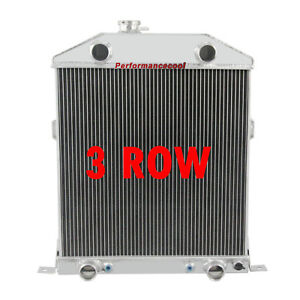 3 Rows Aluminum Radiator For 1942 1948 Ford Deluxe Mercury Cars Flathead Engine