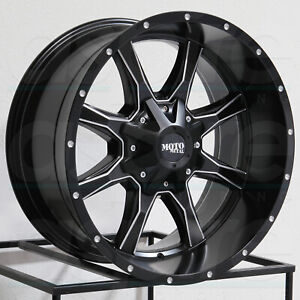 16x7 Moto Metal Mo970 5x130 42 Black Milled Wheels Rims Set 4