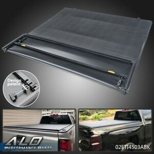 Four fold Soft Tonneau Cover For 2007 2013 Chevy Silverado gmc Sierra 6 6 Ft Bed