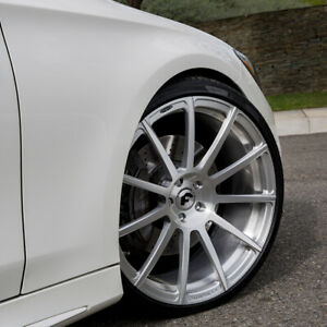 22 Forgiato Undice Brushed Concave Forged Wheels Rims Fits Benz S550 S63 Cl550