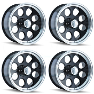 16x8 Ion 171 5x5 5 5x139 7 5 Black Machined Lip Wheels Rims Set 4