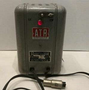 Vintage Atr Automatic Tapering Lead Acid Battery Charger 115v 10 Amp Gm Ford Car