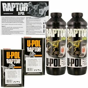 U pol Raptor Black Urethane Spray on Bed Liner Texture Coating 2 Liters Upol