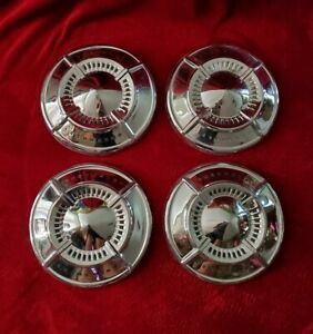 1961 Chevrolet Dog Dish Hubcaps 1962 Wheel Covers Poverty Center Caps Impala