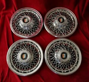 Buick Wire Hubcaps 15 Spoke Wheel Covers 1978 79 80 81 82 83 84 85 86