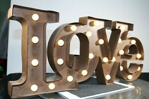 Marquee Light love Metal Sign Battery Operated