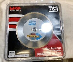 Mk 8 Inch Diamond Continuous Rim Wet Blade For Tile Marble Ceramic Mk 415 New