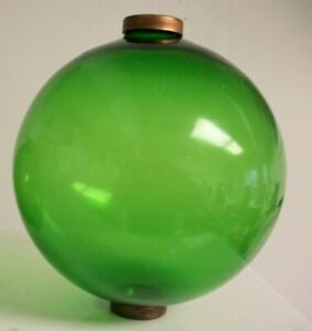 6 5 Green Glass Balls For Weathervanes Or Lightening Rods