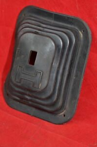 Hurst H Logo Shifter Boot 5 1 4 X 6 5 16 2374 Aw Rubber Vintage Orig Boot