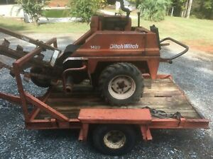 Ditch Witch 1420 Trencher On Trailer Near Charlotte Nc