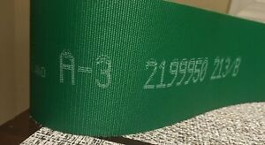 Habasit Power Transmission Belt Green A 3 2199950 213 b 2112mm Long X 75mm Wide