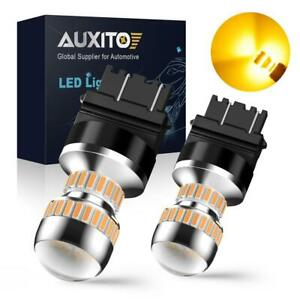 Auxito 2x 3157 4057 3057 Amber Yellow Led Turn Signal Light Projector Bulbs 54h