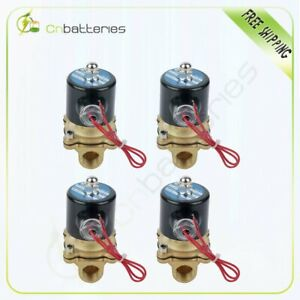 1 2 Npt Air Ride Suspension Valve Electric Solenoid Brass For Train Horn Fast 4