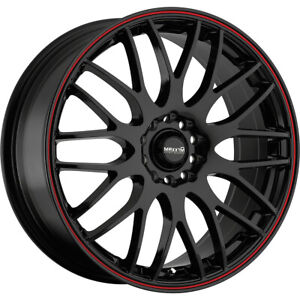 4 New 16x7 Maxxim 42b Maze Black Wheels Rims 40 5x100 5x4 50