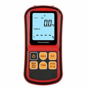 Digital Thermocouple Thermometer Dual channel With Two K type Temperature Meter