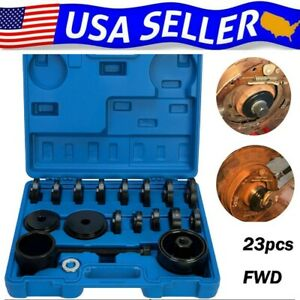 23pcs Front Wheel Drive Bearing Press Tool Removal Adapter Puller Pulley Kit Fwd