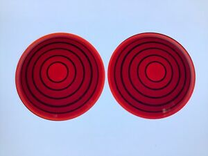 Vintage Nos Pair Red Glass Lens Truck Tail Light Early Auto Stop Lamp 3 15 16