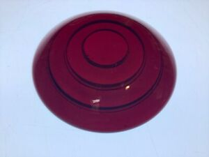 Vintage Red Glass Lens Truck Tail Light Very Early Auto Stop Lamp 3 7 16 Antique