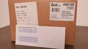 Quill Brand 9 Double Window Security Business Envelopes 3 8 box Of 450