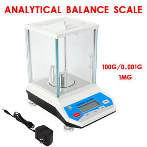 Digital Analytical Balance 1mg Precise Electronic 0 001g 100g Weight Scale