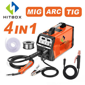 Hitbox Mig 200a Welder 220v Mig Mma Lift Tig Gas Gasless 4 In 1 Welding Mahcine