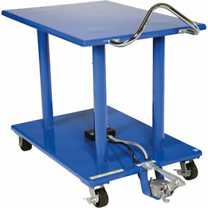 Vestil Manual Hydraulic Post Table 2000 lb Cap ht 20 3042