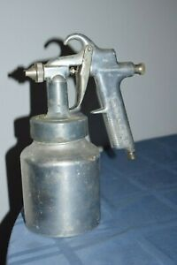Vintage Aluminum Paint Spray Gun Sears Craftsman W Canister Steampunk Style
