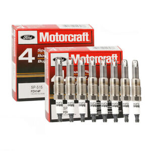 8pc Spark Plugs Sp 546 Sp515 F150 5 4l Genuine For Ford Motorcraft Pzh14f Sp515
