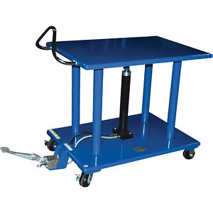 Vestil Manual Hydraulic Post Table 4000 lb Cap ht 40 2436