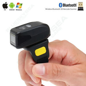 Mini Bluetooth Portable Ring Wireless 2d Barcode Scanner Reader For Ios Android