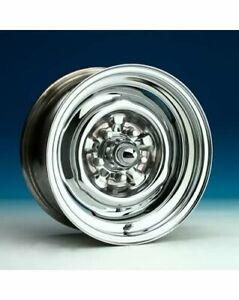 Wheel Vintiques 64 Series Ford Chevy Style O E Chrome Wheel 15 X8 5x4 75 Pair