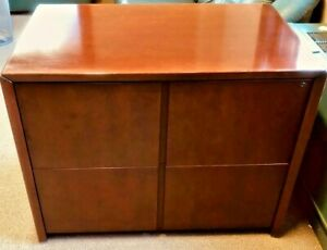 Kimball 2 Drawer Cherry Laminate Lateral Filing Cabinet