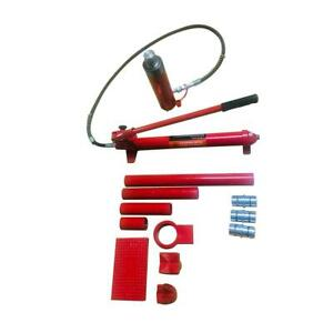 Red 20 Ton Hydraulic Jack Body Frame Repair Air Pump Autobody Tool Kit