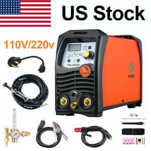 Hitbox Tig200p Welding Machine 110v 220v Double Volt Tig Arc Stick Welder Set